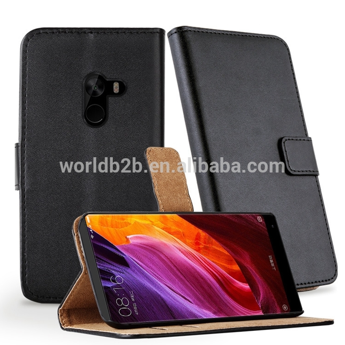 PU Leather Wallet Flip Case Cover Pouch for Xiaomi Mix with Card Holder and Stand
