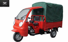 Closed Cabin LIFAN Engine Goods Carrier Tricycle For Adult