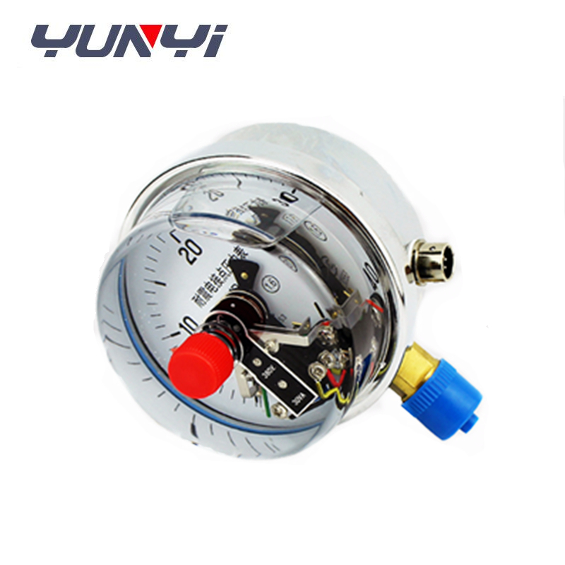 Digital hydraulic electric contact pressure gauge