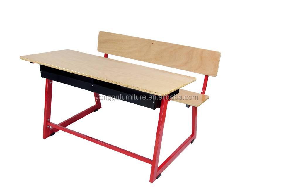 School furniture attached school desk and chair strong school desk set