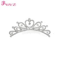 WAYZI brand silver metal bridal crown tiaras hair accessories headpiece fashionable hair jewelry