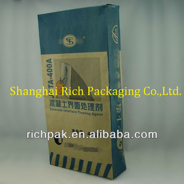 40kg craft paper cement bag for dry mix mortar cement for Craft cement mix