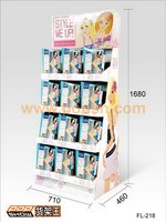 Promotional portable cardboard display stand unit