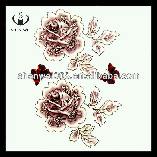Beautiful tattoo body art temporary tattoo for women,flower tattoo designs