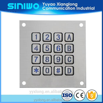 Stainless Steel Material smart video door phone with code silicone rubber keypad prototype