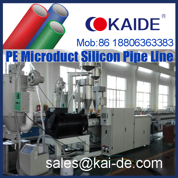 HDPE PE silicon pipe production line manufacturer