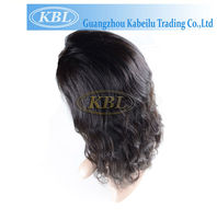 Cheaper price virgin unprocessed afro kinky curly half wig