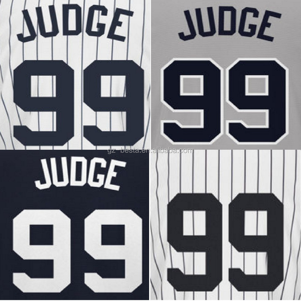 Sublimated New York Aaron Judge 99 Baseball Jersey