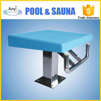 Special design standard one-step starting blocks used for swimming pool