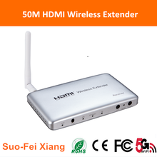 5G mini HDMI wireless extender 50m ir audio transmitter and receiver for ps3