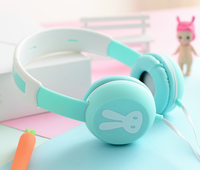 Bunny style Headphone Stereo Suitable to Remote and Mic for Apple Samsung HTC Android Tablet MP3