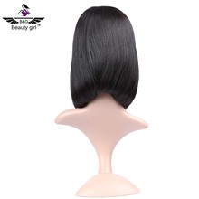 remy brazilian human hair lace front wig short u part bob wigs for black women