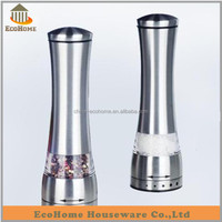Stainless steel salt and pepper grinder set,salt and pepper mill