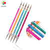 Factory Supply Double Heads Nail Art Tool Shell Powder Point Drill Pen Nail Dotting Pen