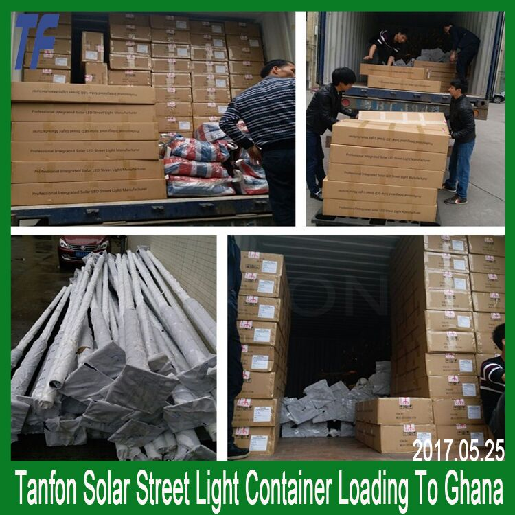 Tanfon solar outdoor lamp waterproof all in one led street light 80w integrated solar street light