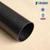 KUDO Glossy Carbon Cloth Pattern Oval / Round Paddle Shaft 3K Carbon Fiber Tube