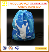wholesale colorful promotional gym sack polyester drawstring bag