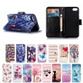 Cartoon Leather Wallet Flip Case for iphone 7 , for iphone7 Case PU
