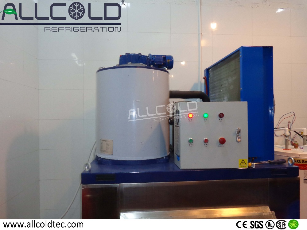 500kg/day salt water ice flake machine for fish boat