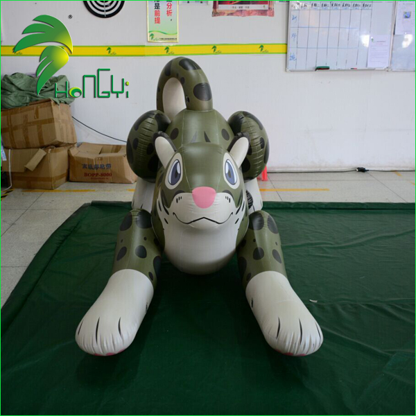 Cheap Wholesale Inflatable Leopard Model Cartoon / PVC Inflatable Custom Jumping Leopard Pool Toys Animal