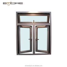 5mm thickness double glazing window glass bronze color aluminum window