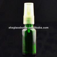 30Ml Green Aromatic Organic Essential Oil Boston Round Bottle With Plastic Pump Mist Sprayer