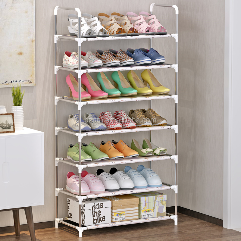 Wholesale retail fabric shoe display shelf rack stand