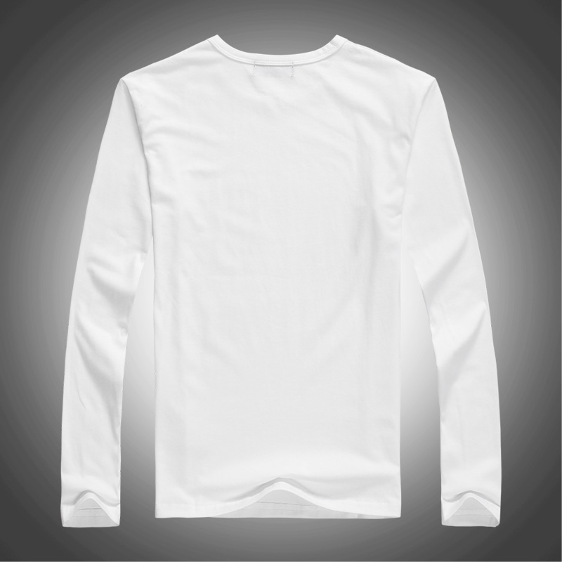 100% cotton long sleeve t shirts with high quality