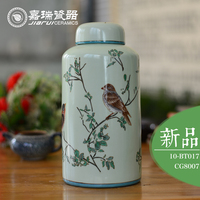 Pure hand painting designs ceramic canister tea coffee sugar