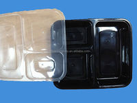 Take away Food Grade 3-compartment plastic food container