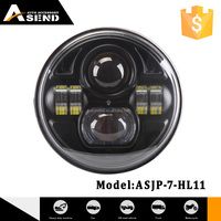 7Inch Projector LED Headlight For Harley Davidson Motorcycles Headlamp 45W Chrome