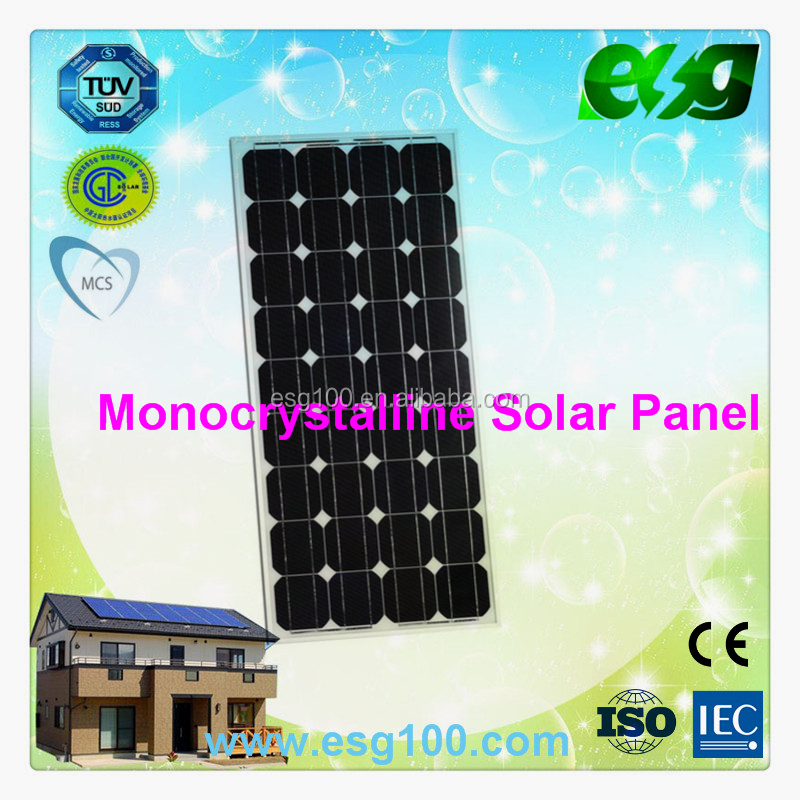 High Efficency 150w monocrystalline silicon solar panel solar modules