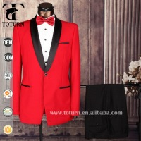 2016 new design mens red suit wedding party dresses for men
