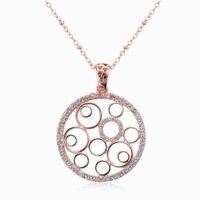 Trend Jewelry Manufacturer Factory Price Round Hollow Metal Disc Necklace Wholesale Gold Filled Jewelry