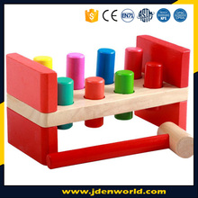 Creative colorful hammer knock educational game wooden toy for kids