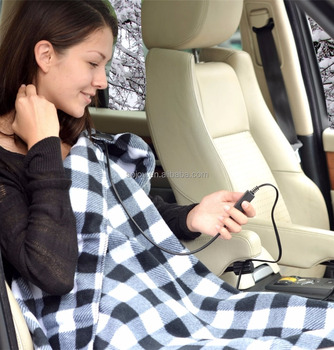 12v car electric fleece heat blanket