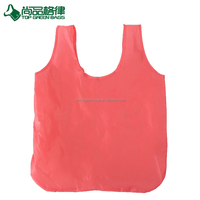Eco-friendly foldable polyester t-shirt shopping bag shopper bag