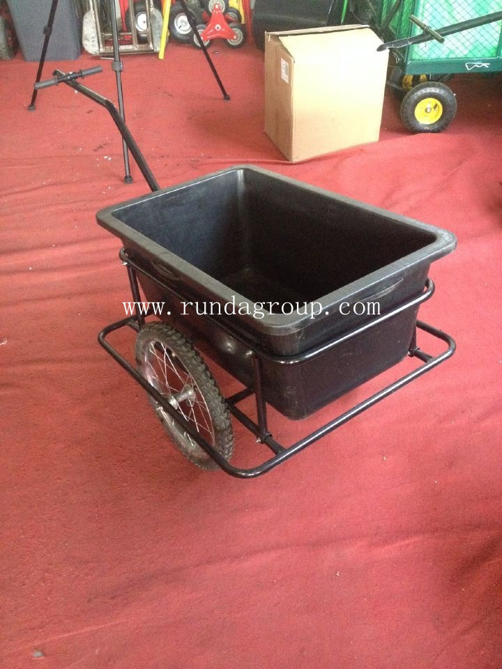 Garden use bike tralier dump tool cart