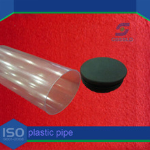 Plastic packing pipe with two end caps