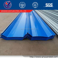Prime prepainted steel coils, qingdao ppgi roof sheets/rib-type plate for construction