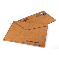 Retro Envelope Pattern Leather Bag Cover Case For iPad Pro