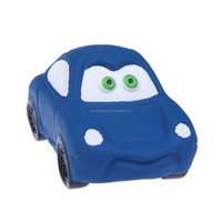 Dark Blue Squeaky Pet Dogs Rubber Car Chew Toy