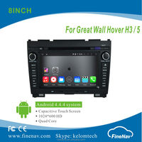 "8"" Android 4.4.4 Car DVD player with Quad-core 1024*600 Resolution 16GB Flash Mirror Link for Great Wall Hover H3/H5 2010-2013"