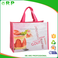 ISO/BSCI Durable CMYK printing and lamination PP woven shopping bag