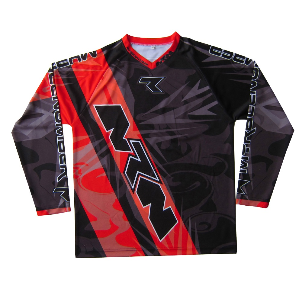 Custom Men's Sublimation Motorcycle Racing Shirts Wholesale