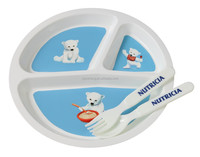 European Fashionable First Rate High Quality food grade Plastic baby feeding plate and spoon Bpa free