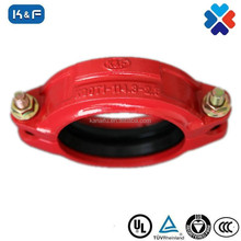 FM/ UL APPROVED ductile iron grooved pipe fittings of rigid coupling