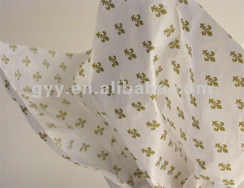2012 GYY metallic gold printed tissue paper