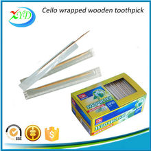 2017 hot sale single wrapped wooden toothpicks