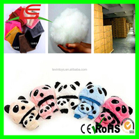 ICTI Custom sale candy color panda plush fancy baby hats with scarf